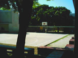 The basketball court at Mzizima